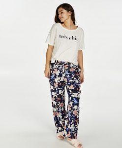 Pyjama broek woven floral hunkemoller